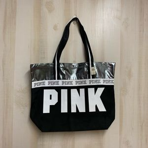 NWT Large Pink By Victoria Secret Tote Bag